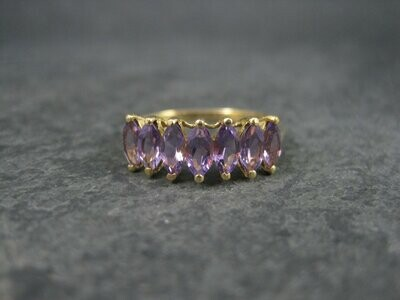 10K Amethyst Ring Size 10