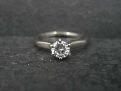 18K .33 Carat Diamond Engagement Ring
