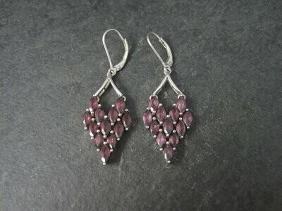 90s Sterling Rhodolite Garnet Earrings