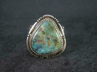 Navajo Sterling Turquoise Ring Size 14 Freddy Charley