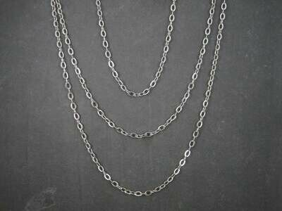 Classic 100 Inch Stainless Steel Opera Length Chain Necklace