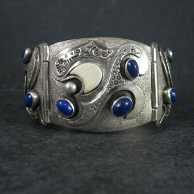 Custom Vintage Lapis Bracelet Sterling 6 Inches Teresa Archibeque