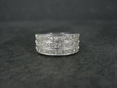 90s Vintage Cubic Zirconia Band Ring Size 8