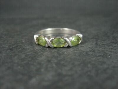 Sterling XO Peridot Ring Size 9