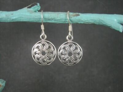 Simple Sterling Floral Earrings