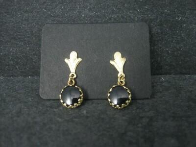 Dainty 14K Onyx Earrings