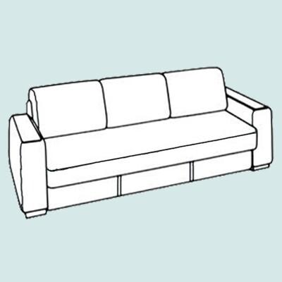 Трехместный диван -до 2-х метров