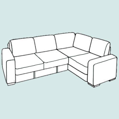 Угловой диван 1,5х2м