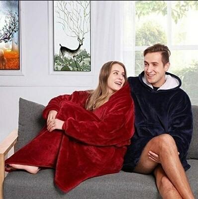Hoodie Blanket Red