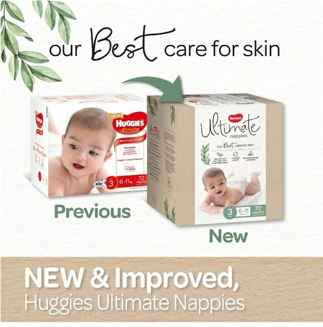 Huggies Ultimate Nappies Size 3 72Pack