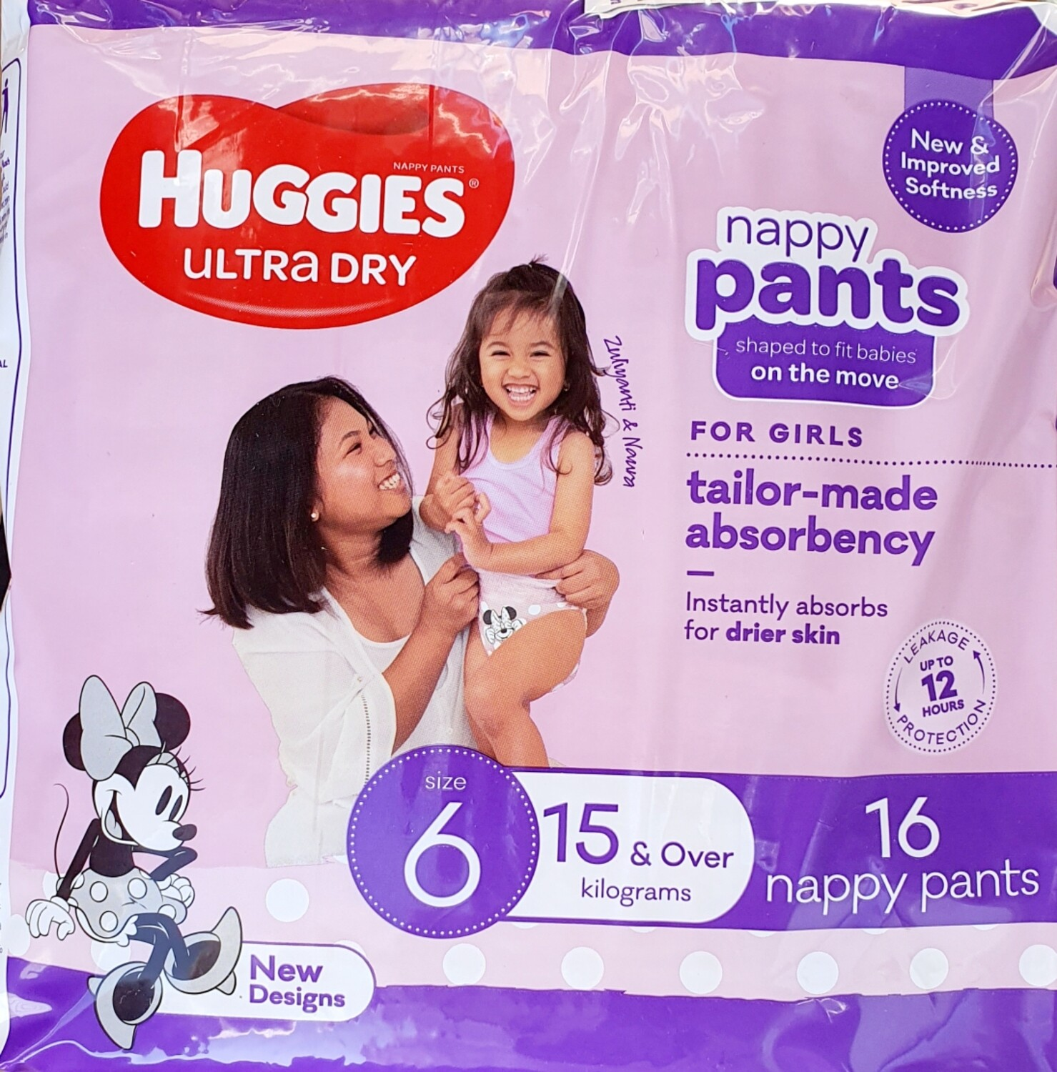 Huggies Nappies Ultra Dry Size 6 64Pack