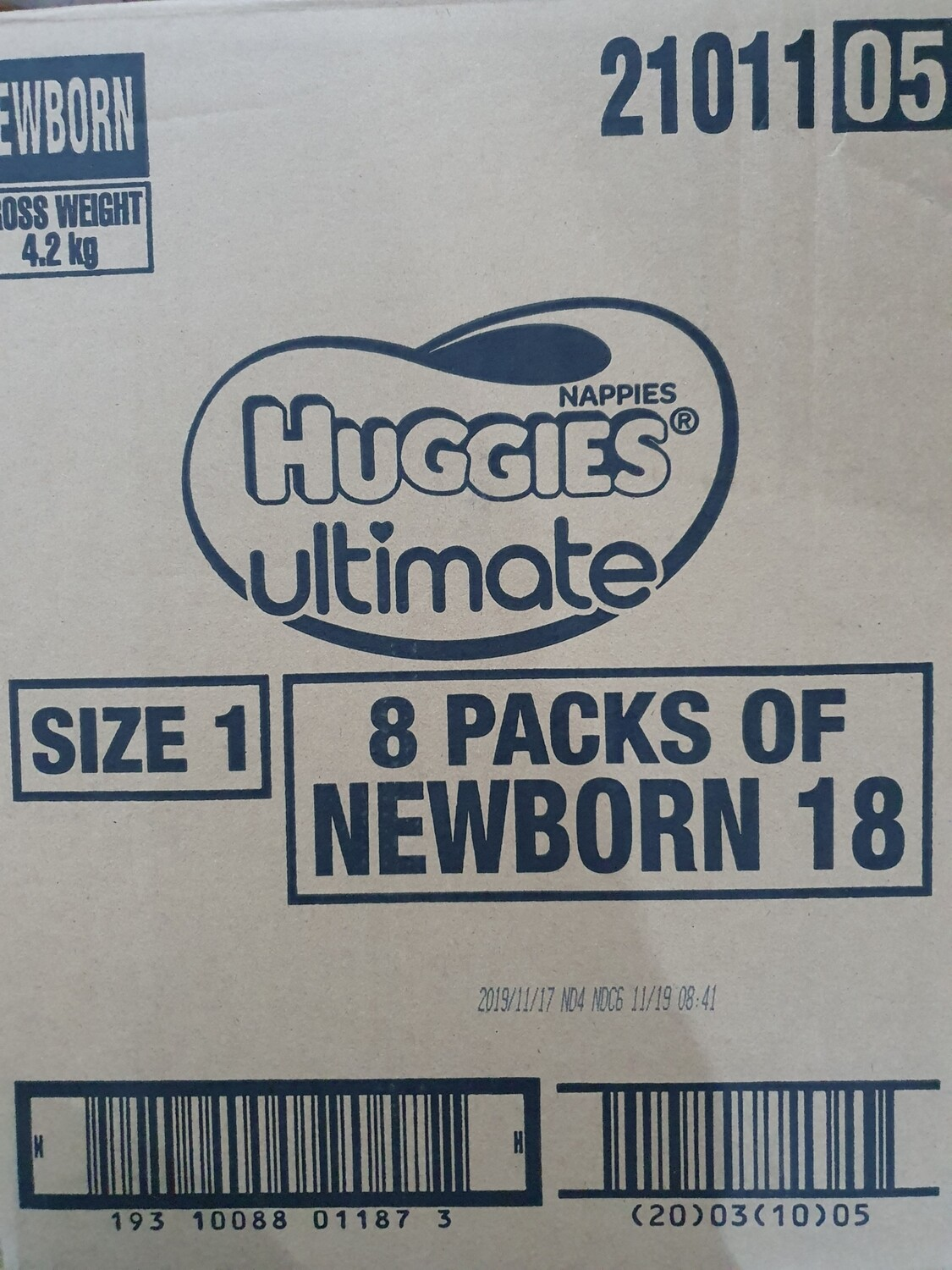 Huggies Ultimate New Born Nappies  upto5kg