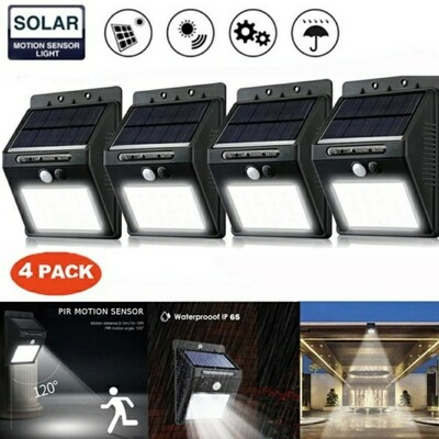 Solar Sensor Light 4Pack