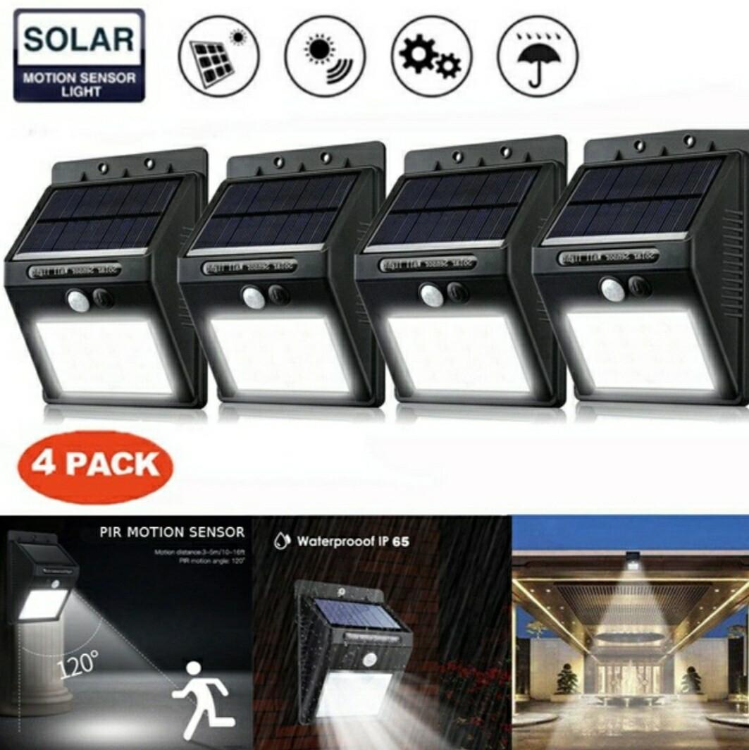 Solar Sensor Light 4Pack