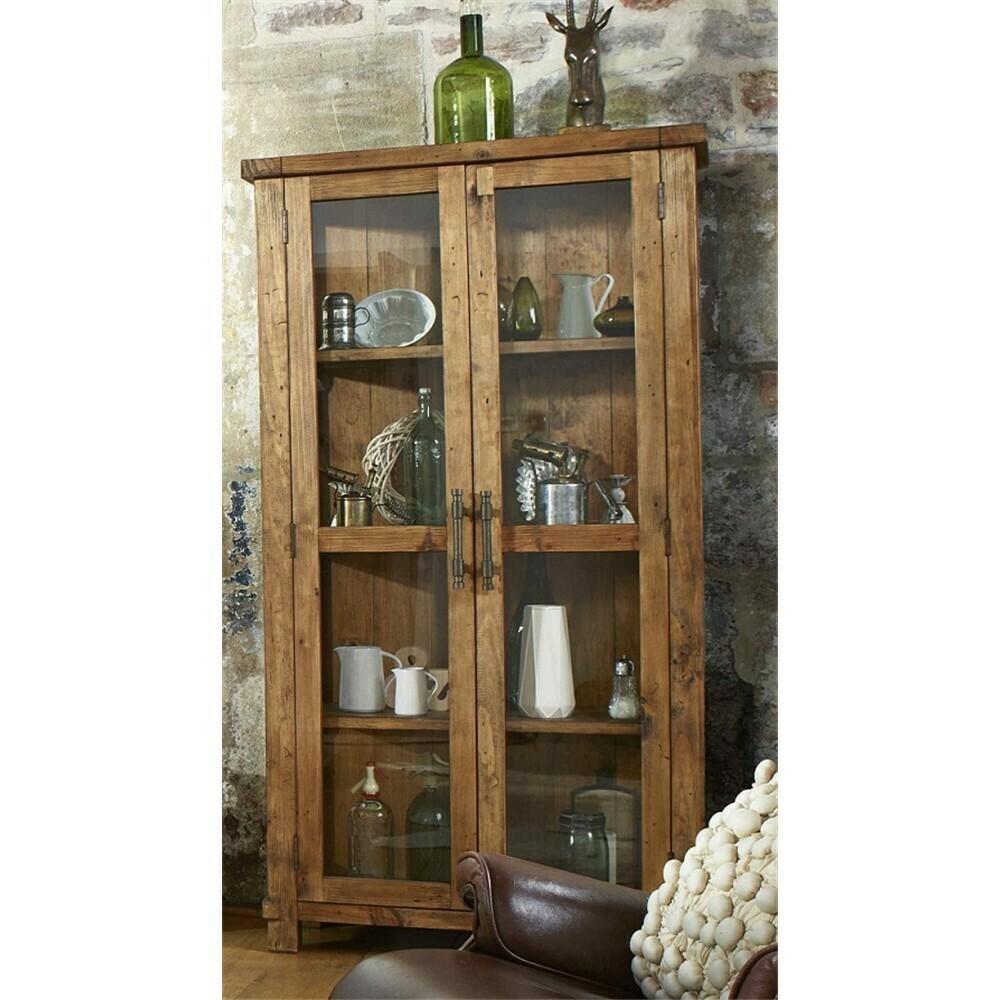 Industrial Glass Display Cabinet NZ Pine