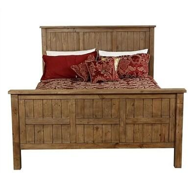 Driftwood Queen Slat Bed Frame
