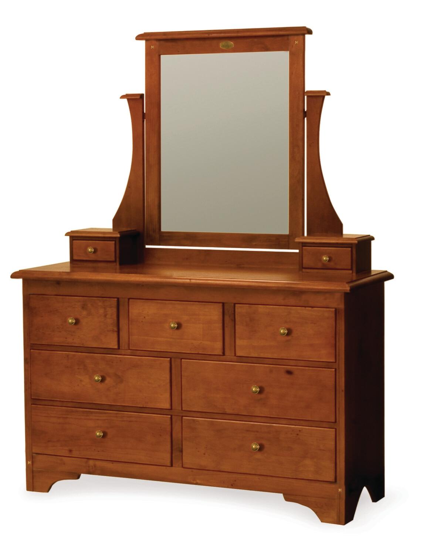 VILLAGER Dresser and Mirror 9 Drawer