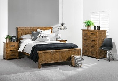 Industrial NZ Pine Bed Frame