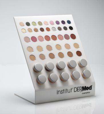Institut' Dermed Cosmetics Mineral Makeup Display