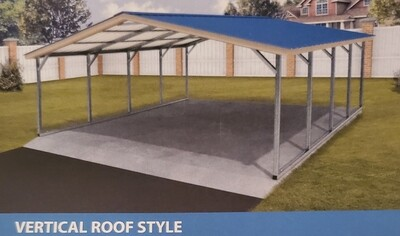 Vertical Style Metal Carports by Eagle Carports