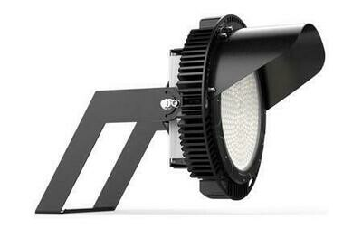 LED Sport Light 72000lm 160lpw 450W 4000K 0-10V DIM 120-277V Glass Lens Black