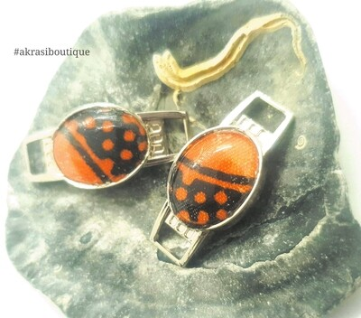 African wax print shoe tag   Ankara lace locks   clothing accessories