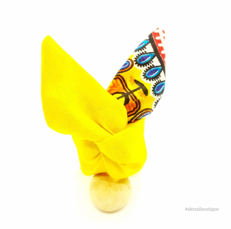 Dashiki print wire twist bun tie | African print bun wrap | Ankara print headtie | wire hair tie