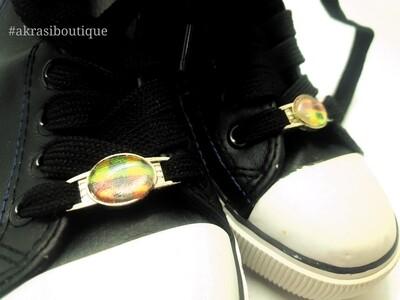 African wax kente print shoe tag   kente lace locks   clothing accessories
