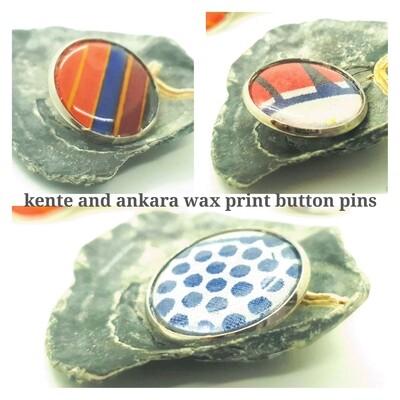 African wax print button pins   Ankara button pin   Kente pin