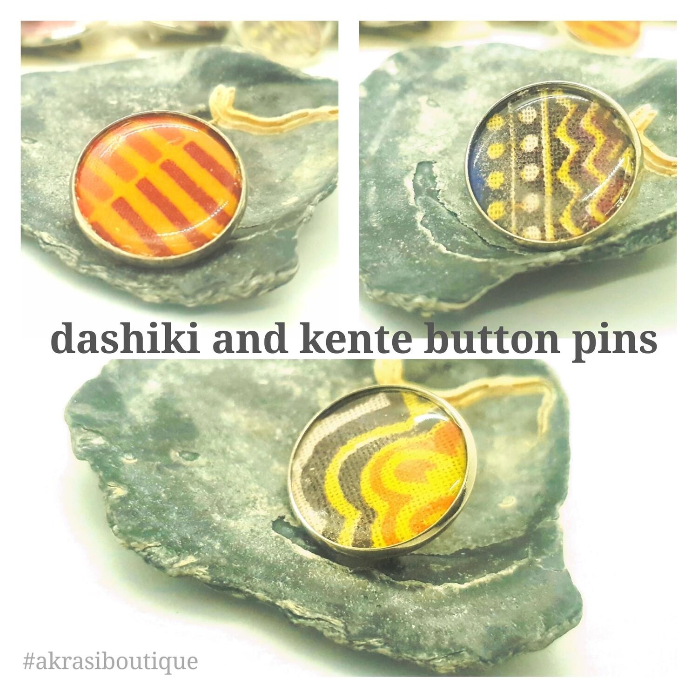 African wax print button pins   Ankara button pin