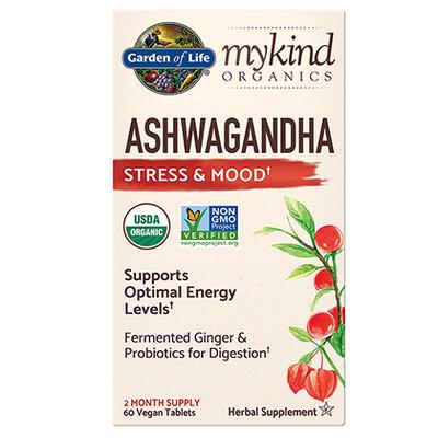 mykind Organics Ashwagandha Stress and Mood - 60 Tablets