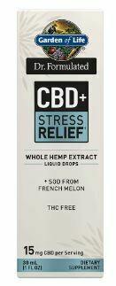 Dr Formulated CBD+ Stress Relief Liquid Drops - 1 oz