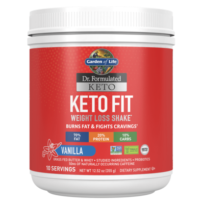 Keto Fit Weight Loss Shake Vanilla - 355 g
