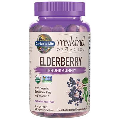 mykind Organics Elderberry Immune Gummy - 120 Gummies