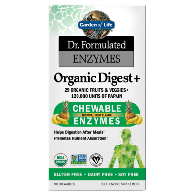 Dr Formulated Organic Digest Chewable Enzymes - 90 Chewables