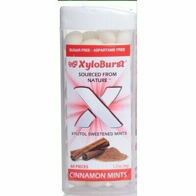 XyloBurst Xylitol Cinnamon Mints - 60 Pieces