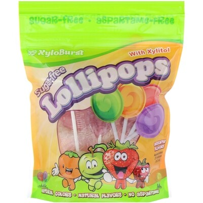 Xyloburst Sugar Free Lollipops with Xylitol - 25 Lollipops