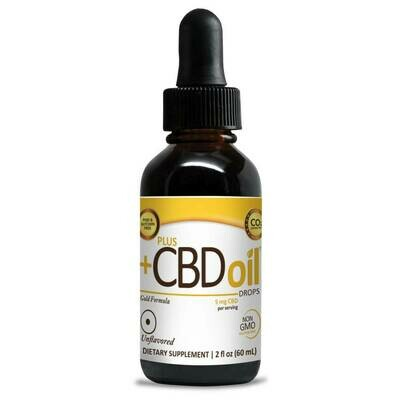 CBD Gold Extra Strength Drops Unflavored - 2oz