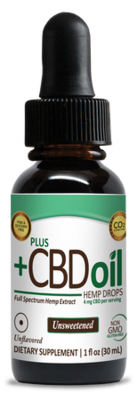 CBD Total Plant Complex Extra High Potency Unflavored Unsweetened - 1 oz
