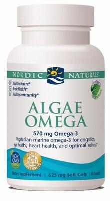 Algae Omega Vegetarian EPA, DHA, and Omega 3 - 60 Softgels