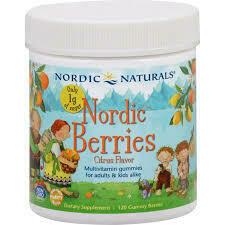 Nordic Berries Multivitamin Gummies Citrus- 120 Gummies
