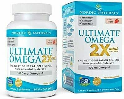 Ultimate Omega 2x Strawberry - 60 Mini Softgels