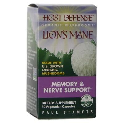 Lion's Mane Memory & Nerve Support - 30 Capsules