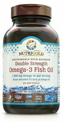 Double Strength Omega-3 Fish Oil -  60 Softgels