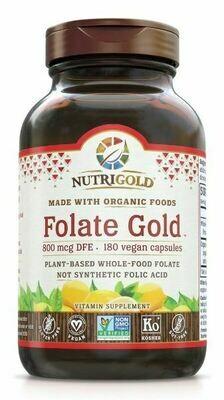 Folate Gold 800 mcg - 180 Capsules