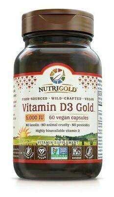 Vitamin D3 Gold 5000 IU - 180 Softgels