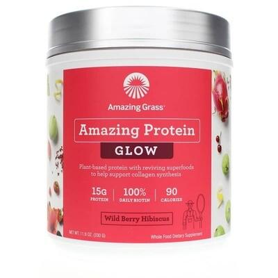 Amazing Protein Glow Powder Wild Berry Hibiscus - 11.6 oz