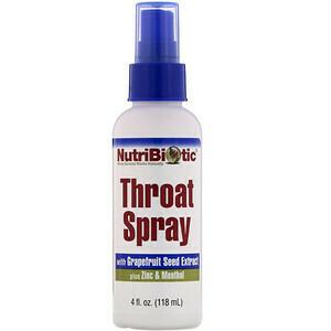 Throat Spray with Grapefruit Seed Extract plus Zinc - 4 oz