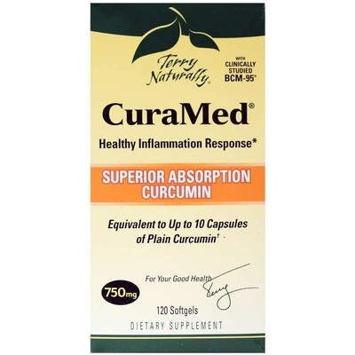 CuraMed 750 mg Superior Absorption Curcumin - 120 Softgels