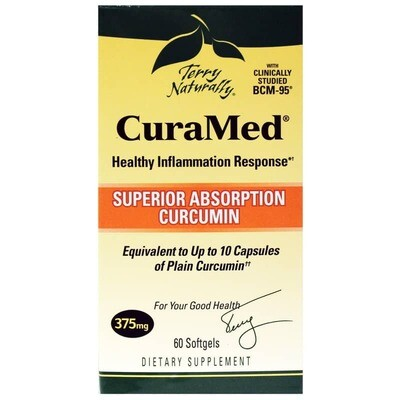 CuraMed 375 mg Superior Absorption Curcumin - 60 Softgels